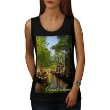 Canal Tree Amsterdam Tee Town River Women Tank Top - $12.99