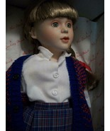 """DANBURY MINT~PRECIOUS CHILDHOOD MOMENTS """"SCHOOL TIME"""" DOLL NUMBERED IN B... - $23.76"""