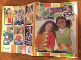 9 Knit Patterns Kids' Cotton Sweaters Melissa Leapman 45 Pg. Leisure Arts Book - $12.24