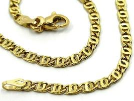 "18K YELLOW GOLD CHAIN WAVY TYGER EYE LINKS 2.8mm, 0.11"" LENGTH 50cm, 19.7"" image 1"