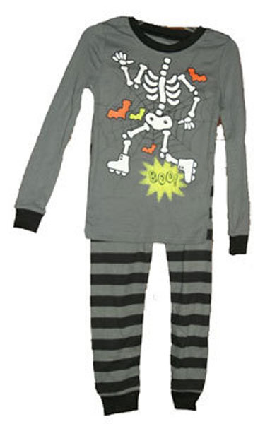 Boys Skeleton Pajamas Size 5
