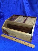Lg Pottery Barn Wood Desktop Organizer, Charging Station for Multiple De... - $46.74