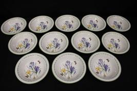 "Set of 12 Studio Nova GARDEN BLOOM Floral #Y2372 8"" Coupe Soup Bowls, Th... - $119.99"