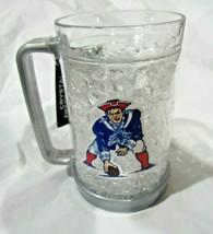 NFL New England Patriots 2 Logos on Crystal Freezer Mug Gray Handle Duck... - $29.99
