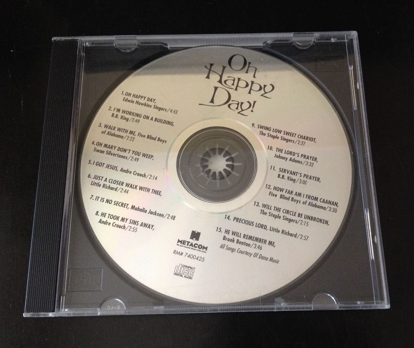 "Primary image for ""Oh Happy Day"" Various Artists Compilation CD 1994 Metacom"