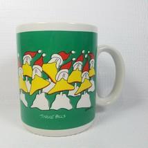 Jingle Bills Mug Duck Tales John Baron Coffee Tea Cup Funny Holiday 1986 Enesco - $15.79