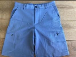 Izod Men's Cargo Golf Shorts Size 30 Flat Front 6 Pocket Classic Blue EUC - $24.74