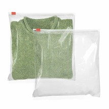 50 Slider Zip Lock Bags 16x16 Clear Reclosable Poly Bags - $30.65