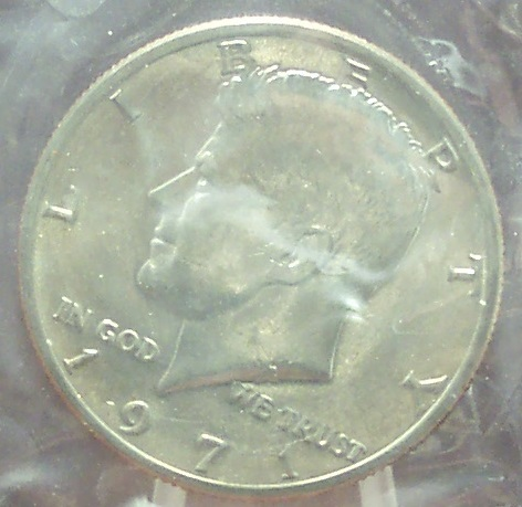 Primary image for 1971-P Kennedy Half Dollar BU In the Cello #0773