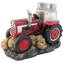 Farming Seasons Red Sculpted Resin Tractor 3 Pi... - $10.87