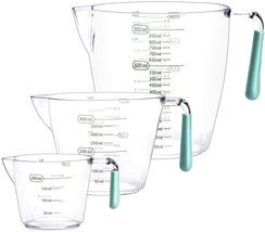 Plastic Measuring Cups Set  with Ml Oz and Cup Measurement, Heat-resistant - $21.28