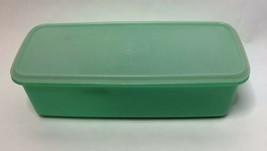 VTG Tupperware 782 Jadite Green Celery Vegetable Crisper Keeper Cheese G... - $13.13