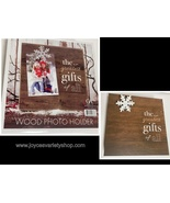 """Wood Photo Holder 9"""" x 9"""" x 1.5"""" Block & Clip """"The Greatest Gift of All""""... - $14.99"""