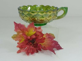 Imperial Carnival Glass Candy Dish Sugar Bowl Bottom Signed IG - $37.22