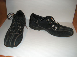 COLE HAAN Black, Suede Leather, Sport Shoes, Womens size 9B - $28.04