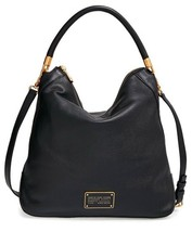 NWT MARC by MARC JACOBS Too Hot To Handle Leather Hobo Bag BLACK $480+ A... - $388.00