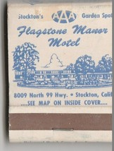 Vintage Strike on Matchbook of Flagstone Manor Motel Stockton California - $14.84