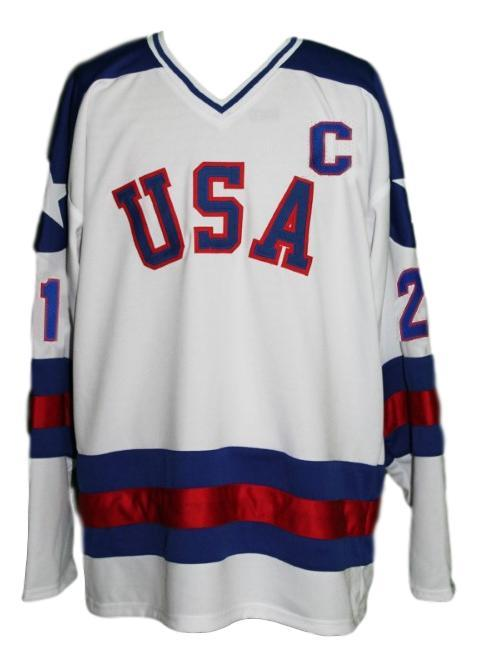 Mike eruzione  21 team usa miracle on ice hockey jersey white   1