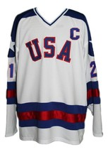 Any Name Number USA Miracle On Ice Hockey Jersey Eruzione White Any Size image 1