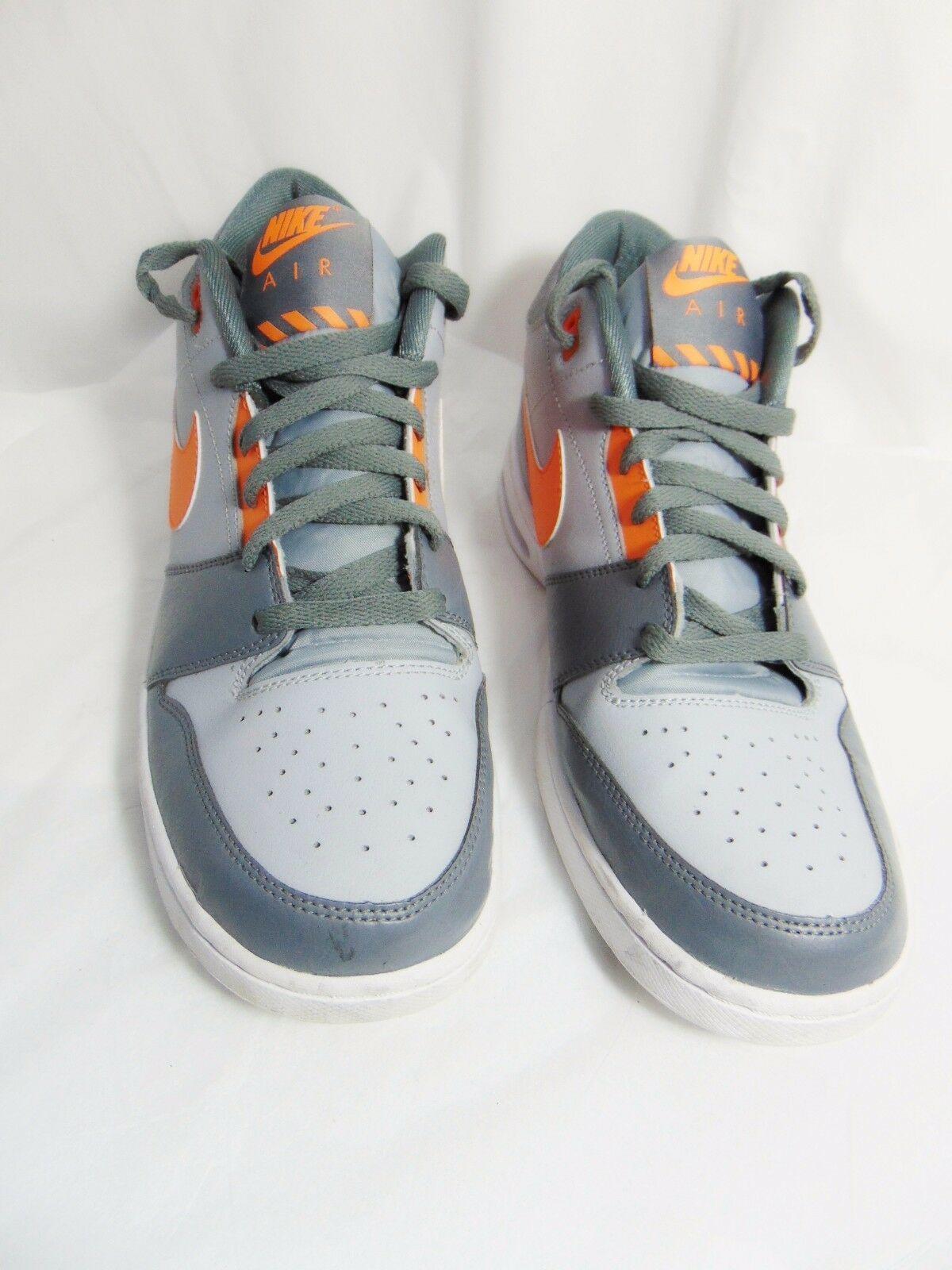 NIKE Air Stepback Men's Athletic Shoes Sneakers 11.5 M Gray Orange 654476 080