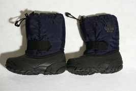 KAMIK KIDS WINTER SNOW BOOTS 10 BOYS OR GIRLS NAVY BLUE BLACK EUC! - $19.80