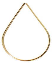 TEARDROP 14 KT GOLD-FILLED LOOP 33 x 47mm  0.78gm image 1
