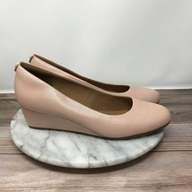 Clarks Artisan Vendra Bloom Womens Size 9 Dusty Rose Leather Wedge Pumps - $49.95