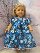 "homemade 18"" american girl/madame alexan frozen olaf nightgown doll clothes - $21.78"