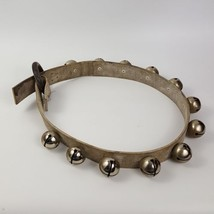 "12 Sleigh Bells 41"" Leather Strap with Faux Wood Ring Size No. 4 - $77.39"