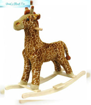 Happy Trails Giraffe Plush Rocking Animal - $56.68