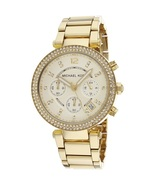 Michael Kors MK5354 Parker Stainless Steel Gold Tone Chronograph Womens ... - $169.00