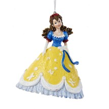 "Kurt Adler 4"" Princess in Blue Yellow Gown Red Accent Dress Christmas Or... - $15.58"