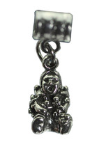 Tribal American Storyteller Sterling silver charm bead Oral storytelling Jewelry - $20.08