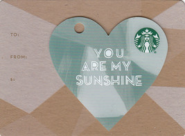 Starbucks 2016 You Are My Sunshine Mini Heart Collectible Gift Card New ... - $1.99