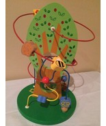 Wooden Activity Bead Maze Puzzle Toy Apple Tree Busy Bee Toddler Baby - $13.99