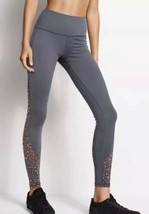 Victoria's Secret Sport Knockout Tight Gray Leopard Mesh Cut Out Leggings XL image 1