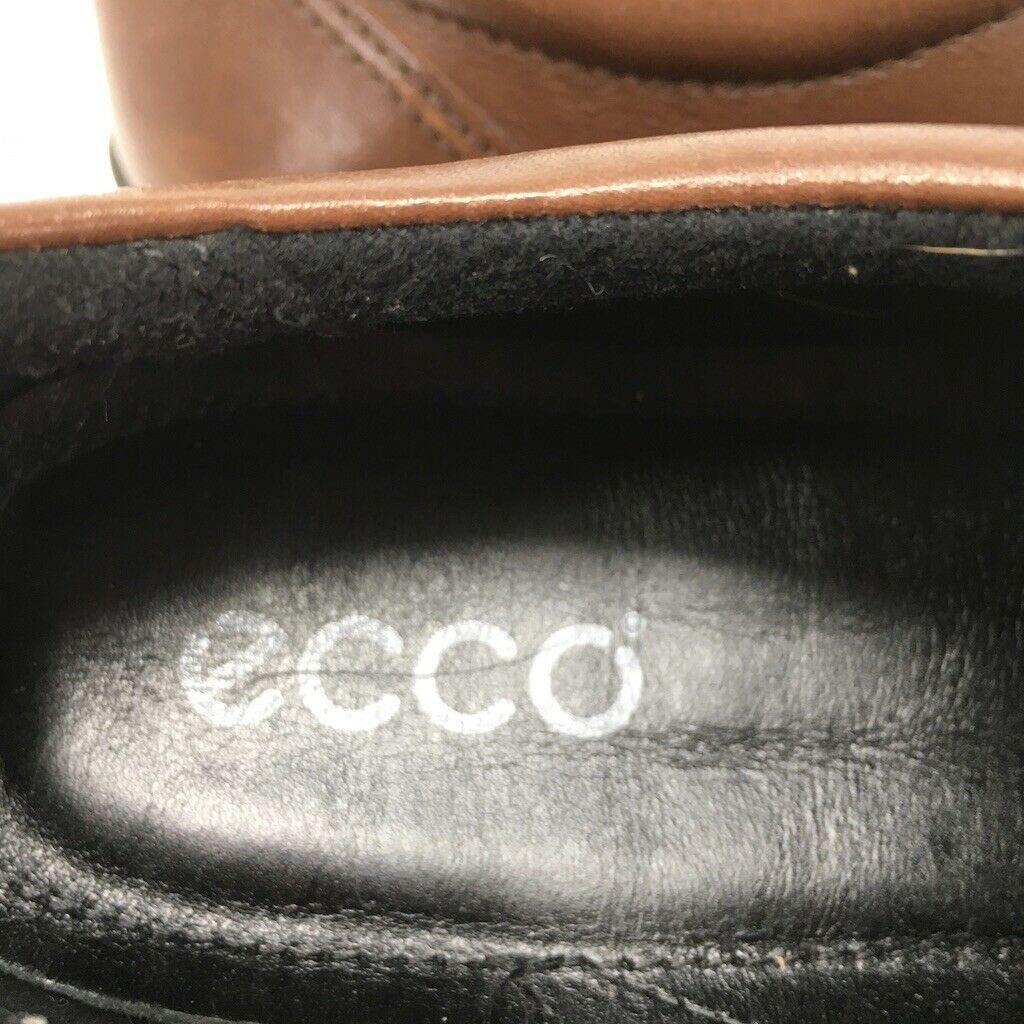 Ecco Women's Walking Shoes, Size 40 Euro, Brown, Hook & Loop, Padded Insole