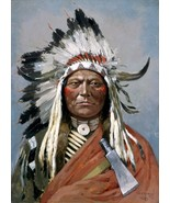 Sitting Bull Painting by Henry François Farny Art Reproduction - $27.99+
