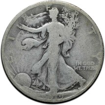 1919 Walking Liberty Half Dollar 90% Silver Coin Lot# A 406 image 1