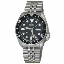 Seiko Men's SKX007K2 Diver Day and Date Black Stainless Steel Watch - $244.78
