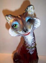 "Fenton Glass Ruby Red ""Vixen"" Foxy Alley Cat Figurine Ltd Ed GSE #6/11 Spindler - $290.52"