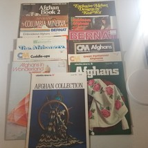 Afghan Leaflets Lot of 13 Bernat Columbia Minerva Vintage - $18.68