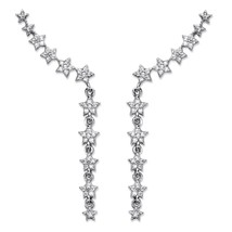.47 TCW Star-Shaped Cubic Zirconia .925 Sterling Silver Ear Pin Earrings... - $36.40