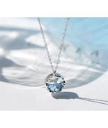 [Jewelry] Mermaid Tail Blue Crystal Pendant Necklace for Woman Friendshi... - $12.19