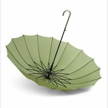 New Long Handle Umbrella Rain Women Windproof Japanese Style Automatic C... - $34.18