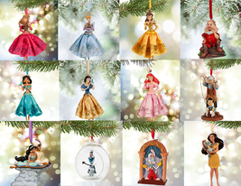 Disney Store Christmas Ornament Belle Aurora Jasmine Snow White Olaf Doc 2015 - $39.55