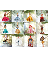 Disney Store Christmas Ornament Belle Aurora Jasmine Snow White Olaf Doc... - $39.55+