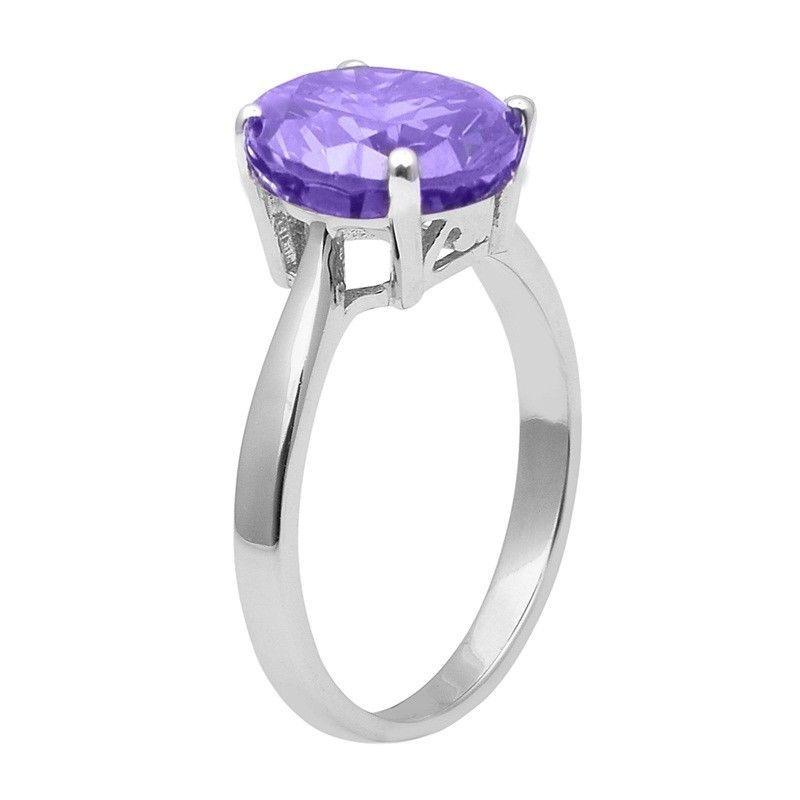 Tanzanite Color Cz Stone 925 Sterling Silver Ring Shine Jewelry Size-9 SHRI1472