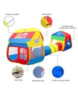 X LARGE Pop Up Children Play House w/ Tunnel Kids Play Hut Tent 12+ Feet... - $69.99