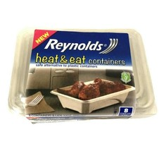 Reynolds Heat Eat Containers Lids Microwave Single Use Disposable Eight ... - $18.57
